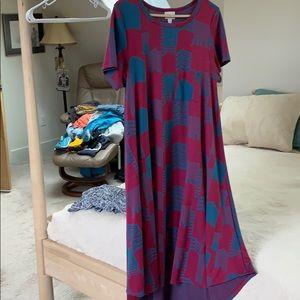 Lularoe purple blue multi dress
